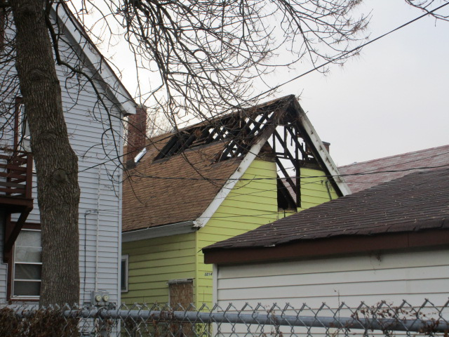 The Burkes original home after fire damage