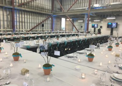 The 256' long table